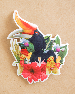 Jungle Bird Iron-on Patch