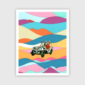 On Safari Art Print