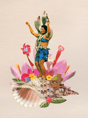 Shell Hula Original Collage