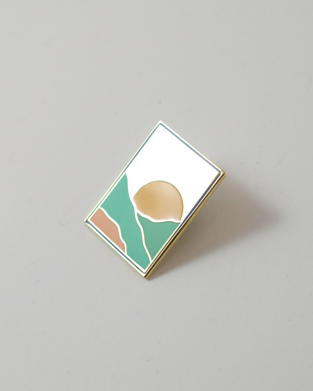 Sunset Landscape Enamel Pin