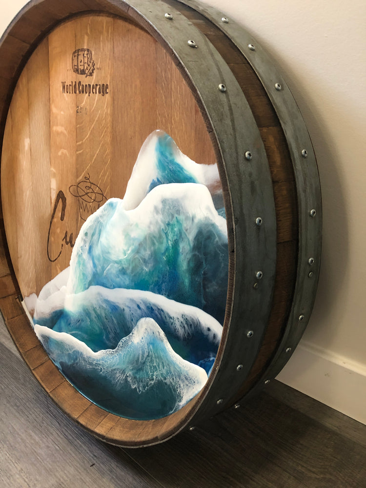 Wine Barrel Ocean Waves
