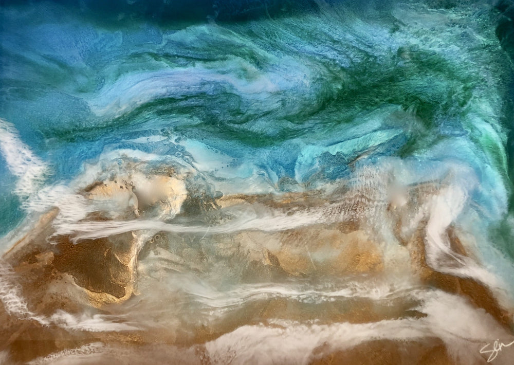 Emerald Water - Yvonne Dixon Art