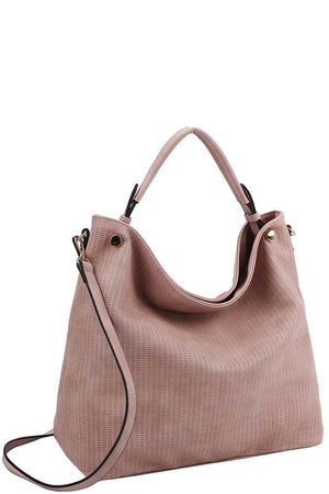 Stylish Modern Mesh Front Hobo Bag With Long Strap