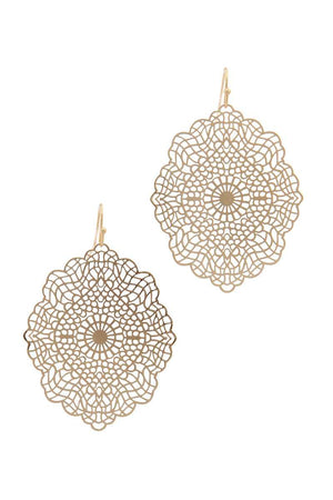 Filigree Moroccan Shape Drop Earring