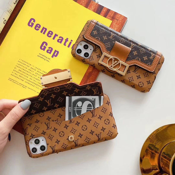 Traditional Design Phone Case For iPhone with Purse