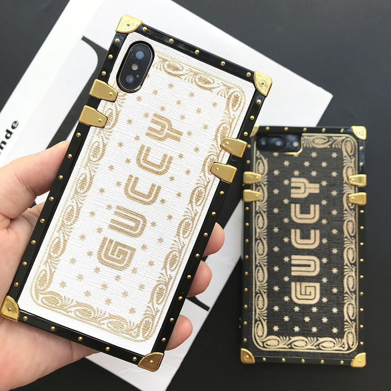 Fashion luxury brand letter graffiti painted iphone case