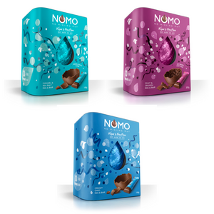 NOMO 3 Vegan Easter Eggs & Bars Variety Combo Free Delivery - Dairy Gluten Egg & Nut Free