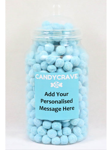 Blue Raspberry Bon Bons Giant Retro Jar