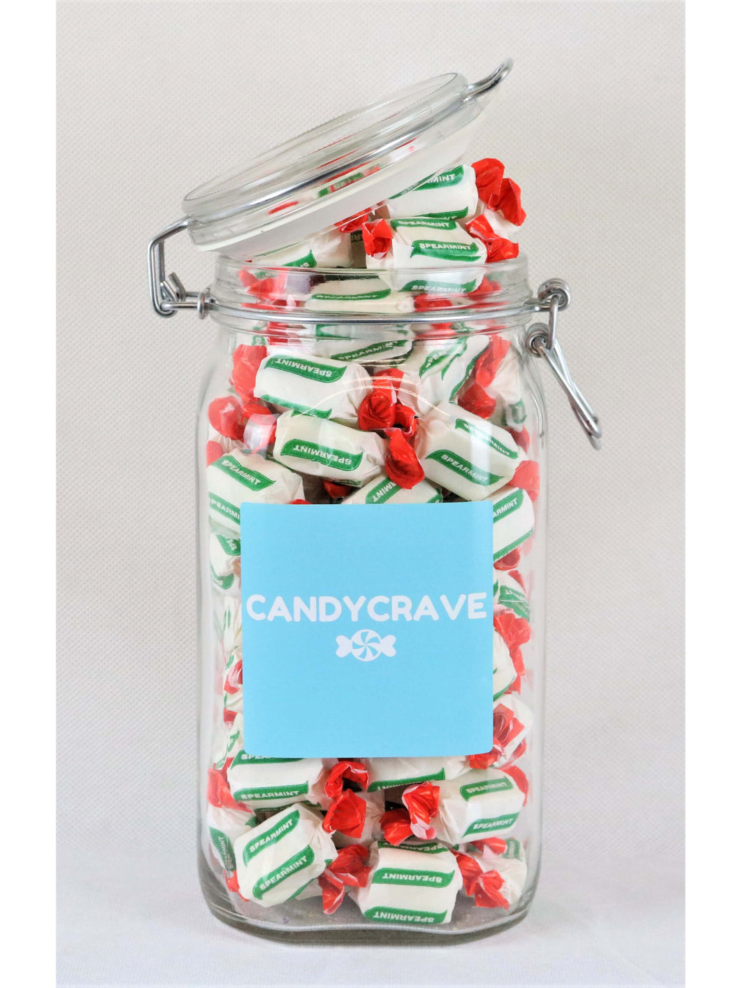 Spearmint Chews Clip Top Jar