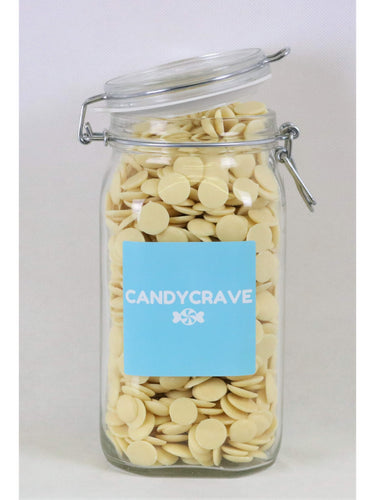 White Chocolate Buttons Clip Top Jar