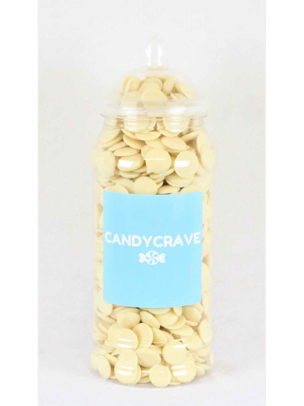 White Chocolate Buttons Medium Retro Jar