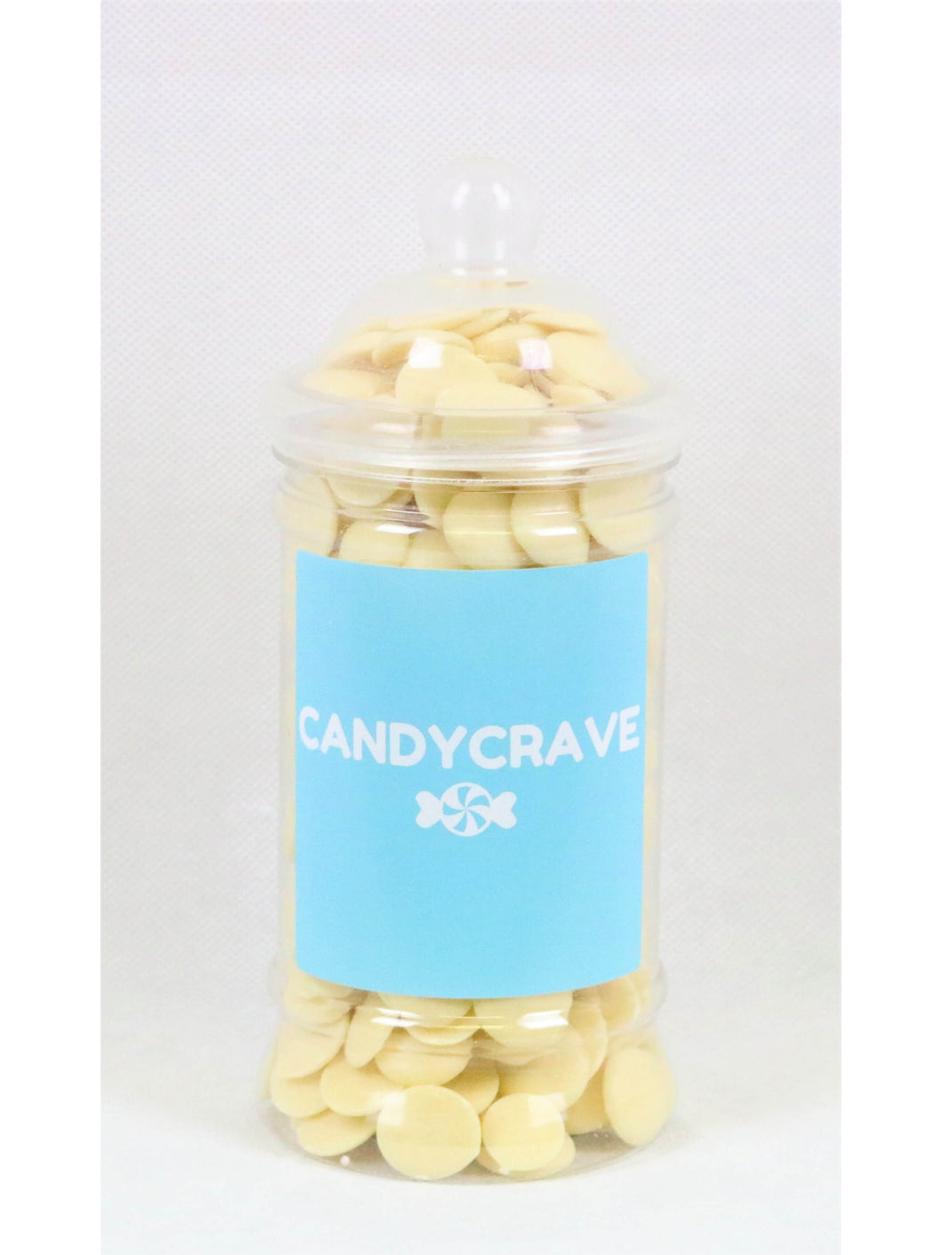 White Chocolate Buttons Small Retro Jar