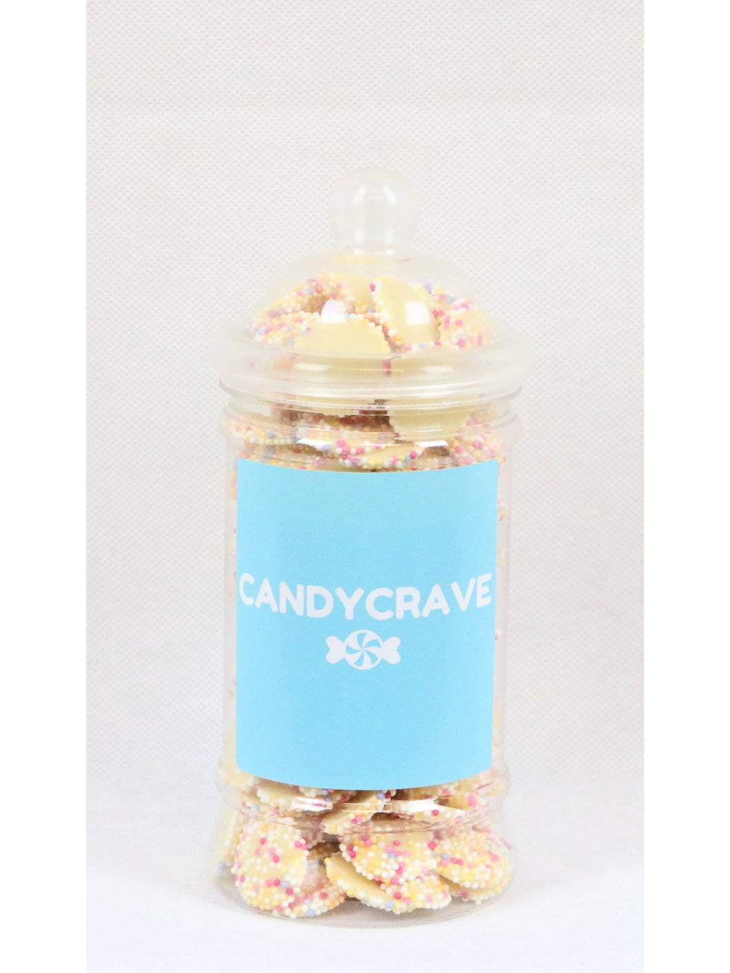 White Jazzles Small Retro Jar