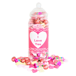 I Love You Valentine's Day Retro Sweets Jar