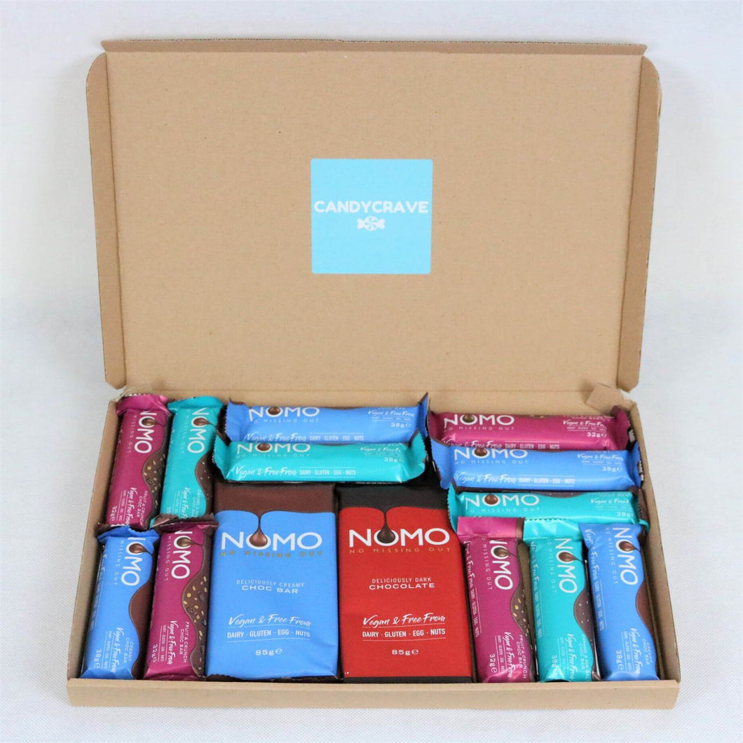 Vegan Chocolate Box (Mixed Nomo Bars) Dairy Gluten Egg & Nut Free