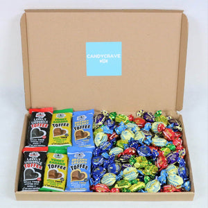 Walkers Assorted Toffee & Chocolate Eclairs Box - Personalised Sweets Box