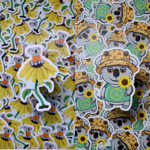 KoalaxHippie Collab Sticker Set