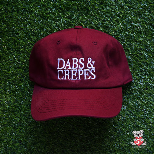 Dabs and Crepes Dad Hat (Maroon)