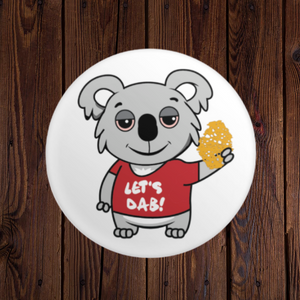 Let's Dab Koala Round Button