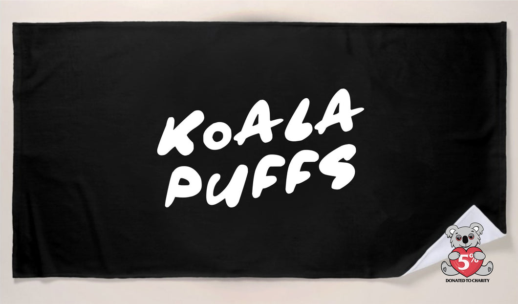 Koala Puffs Beach Towel (Black) (PRE-ORDER)