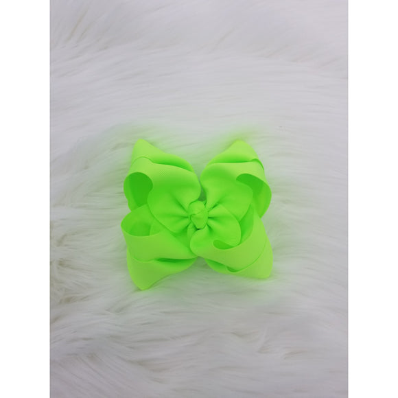 Neon Green Double Ribbon Bow