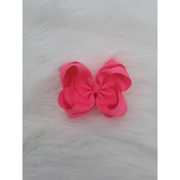 Neon Pink Double Ribbon Bow