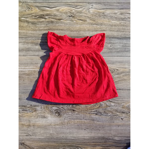 Red Pearl Ruffle Top