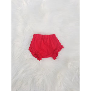 Red ruffle shorties