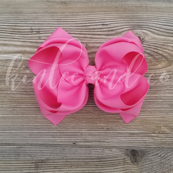 Hot Pink Double Ribbon Bow