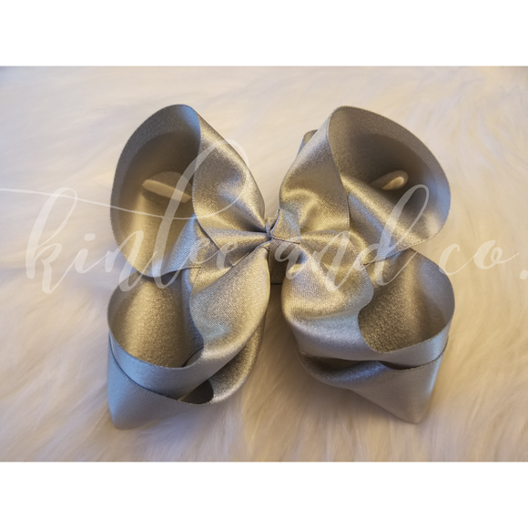 Silver Shimmer Double Ribbon Bow