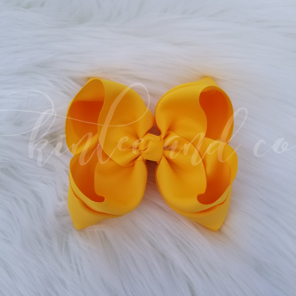 Daffodil Double Ribbon Bow