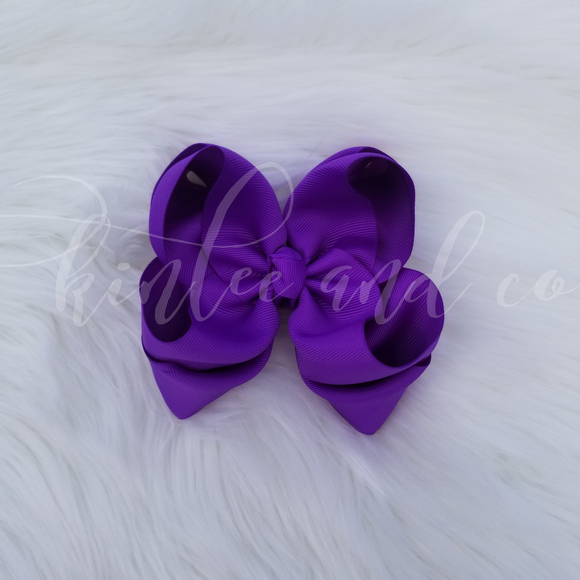 Purple Double Ribbon Bow