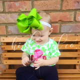 Lime Green Double Ribbon Bow