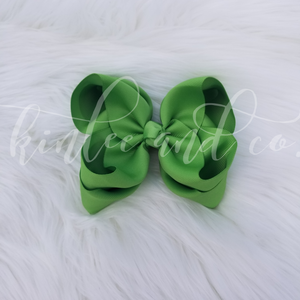 Green Apple Double Ribbon Bow