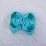 Turquoise Double Ribbon Bow