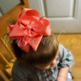 Coral Double Ribbon Bow