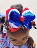 American Triple Ribbon Bow