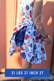Royal Blue Ruffle Bloomers