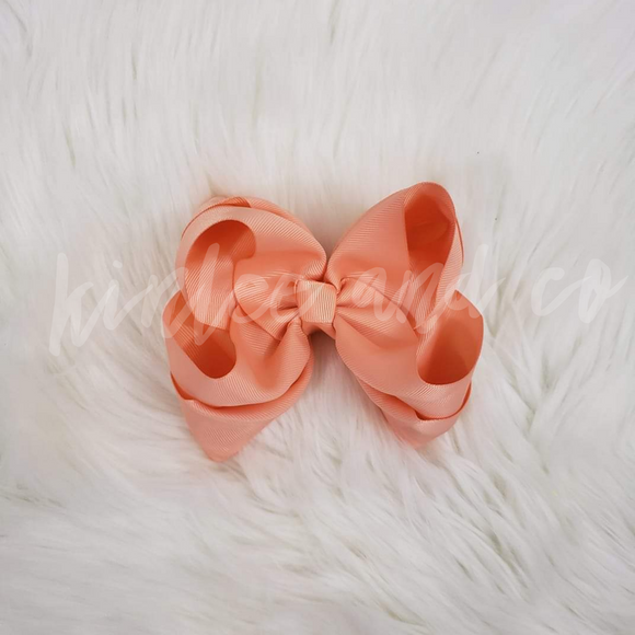 Peach Double Ribbon Bow