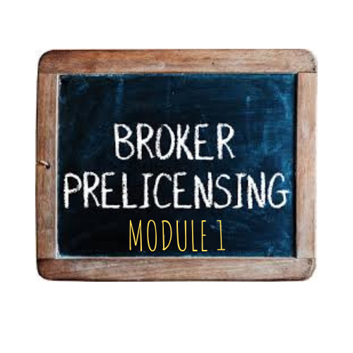 PAYMENT 1-BROKER PRE-LICENSING- MODULE 1- Pasadena, MD -May 11, 2020 (Livestream) - Elite Learning Academy