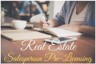 Real Estate 60 Hour Pre Licensing Course- March 15- April 21, 2021
