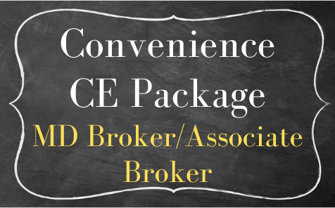MD Broker/ Associate Broker Convenience Bundle  -ZOOM CE- June 2021