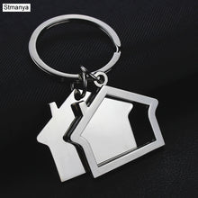 Load image into Gallery viewer, House key chain hut small gift key pendant creative real estate opening gift wholesale can be laser lettering K1523 - Elite1253