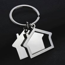 Load image into Gallery viewer, House key chain hut small gift key pendant creative real estate opening gift wholesale can be laser lettering K1523 - Elite Learning Academy