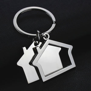 House key chain hut small gift key pendant creative real estate opening gift wholesale can be laser lettering K1523 - Elite Learning Academy