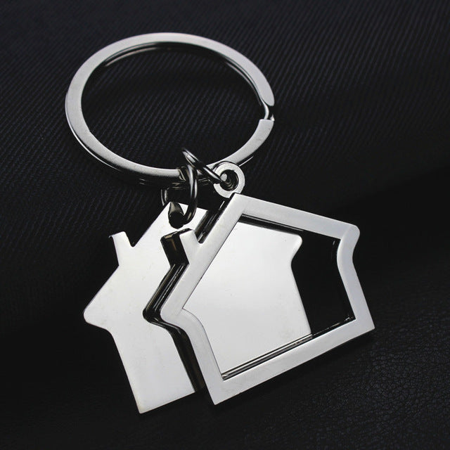 House key chain hut small gift key pendant creative real estate opening gift wholesale can be laser lettering K1523 - Elite1253