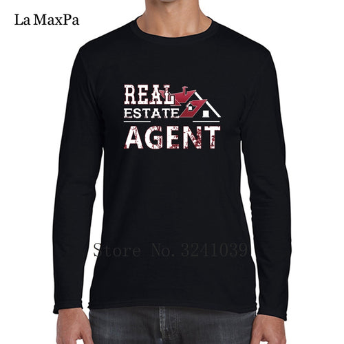 La Maxpa Real Estate Agent Tee Shirt For Men Leisure T-Shirt Man Spring Autumn O Neck Unisex Tshirt For Men - Elite Learning Academy
