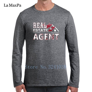La Maxpa Real Estate Agent Tee Shirt For Men Leisure T-Shirt Man Spring Autumn O Neck Unisex Tshirt For Men - Elite1253