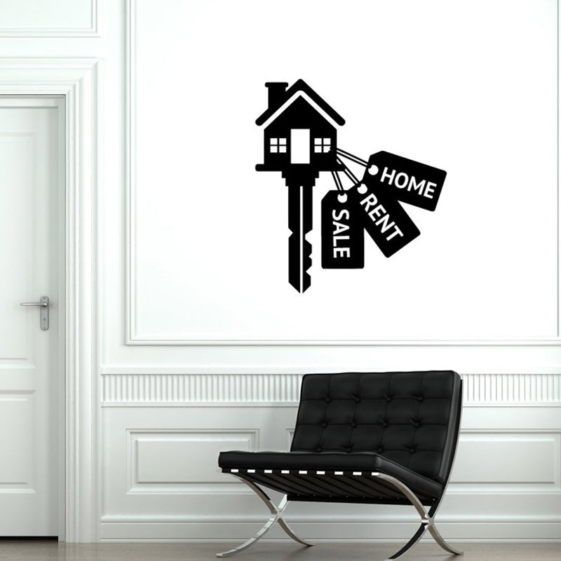Real Estate Vinyl Wall Decal Realtor Agency Property Decor Interior Stickers Mural  A12-034 - Elite1253