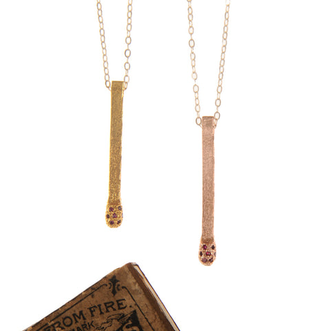 The Jewelled Matchstick Necklace